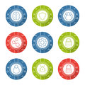 Cyber security linear icons set Royalty Free Stock Photo