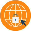 Cyber Security Protection Abstract Icon.