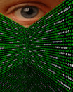Cyber Stalking Spyware Eye Stock Image