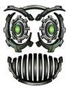 Cyber techno digital robot face design Royalty Free Stock Photo