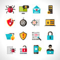 Cyber Virus Icons Set Royalty Free Stock Photo