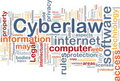 Cyberlaw background concept Royalty Free Stock Images