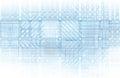 Cybernetics mechanical design as a blueprints art Stock Photo