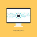 Cybersecurity system, Internet protection concept