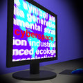 Cyberspace On Monitor Shows Online Technology Royalty Free Stock Photo