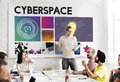 Cyberspace Technology Network Concept