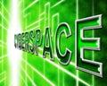 Cyberspaceinternet betyder world wide web och digital Arkivbild