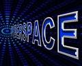 Cyberspaceinternet föreställer world wide web och digital Fotografering för Bildbyråer