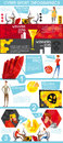 Cybersport Games Industry Flat Infographic Poster