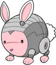 Cyborg bunny rabbit Stock Images