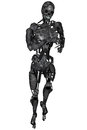 Cyborg d rendered scifi on white background isolated Royalty Free Stock Image