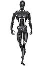 Cyborg d rendered scifi on white background isolated Royalty Free Stock Images