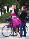 Cycle Chic, Lublin, Poland Royalty Free Stock Images