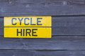 Cycle Hire Sign Stock Photos