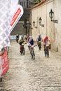 Cycle race cycling prague stairs city race bikes prague steps bike Royalty Free Stock Photography
