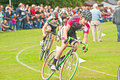 Cycle race at glen urquhart games highland held on th august drumnadrochit Royalty Free Stock Photography