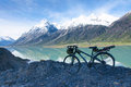 Cycle touring in ranwu lake in tibet china Royalty Free Stock Photos