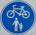 Cycle Track Sign Royalty Free Stock Photo