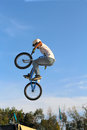 Cycling  bicycle sport BMX Stock Images