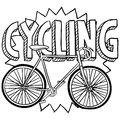Cycling bicycle sports sketch Royalty Free Stock Photography