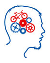 Cycling brain Royalty Free Stock Images