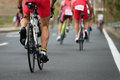 Cycling competition,cyclist athletes riding a race Royalty Free Stock Photo