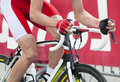 Cycling competition detail man hands Stock Images