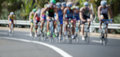 Cycling competition race at high speed Royalty Free Stock Photo