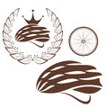 Cycling cycling helmet isolated objects on white background vector illustration eps Royalty Free Stock Photography