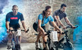 Cycling fitness class Royalty Free Stock Photo