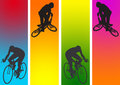Cycling in graphic Stock Photo
