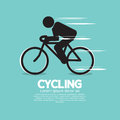 Cycling graphic icon symbol Stock Images