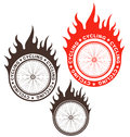 Cycling isolated objects on white background vector illustration eps Royalty Free Stock Images
