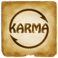 Cycling Karma word symbol on old paper Royalty Free Stock Photo