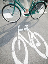 Cycling lane sign Stock Image