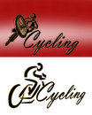 Cycling Logo 2 styles Royalty Free Stock Photo