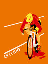 Cycling poster with a track cyclist at the competition Stock Photography