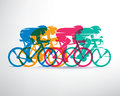 Cycling race stylized background Royalty Free Stock Photo