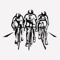 Cycling race stylized symbol