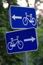 Cycling road signs Stock Photos
