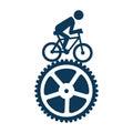 Cycling sport emblem icon
