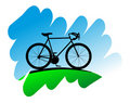 Cycling symbol Royalty Free Stock Image