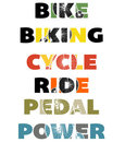 Cycling Text banners Royalty Free Stock Photography