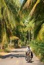 Cycling through Thailand Royalty Free Stock Photos
