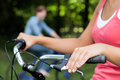 Cycling together Royalty Free Stock Photography