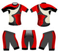 Cycling vest sports t-shirt red style Royalty Free Stock Photo