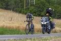The Cyclist Alberto Contador Royalty Free Stock Photo