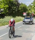 The Cyclist Alberto Contador - Criterium du Dauphine 2017 Royalty Free Stock Photo