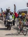 The Cyclist Alberto Contador on Mont Ventoux Royalty Free Stock Photo