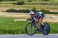 The cyclist andreas kloden chorges france july german from radioshack leopard team pedaling during stage of th edition of le Stock Images